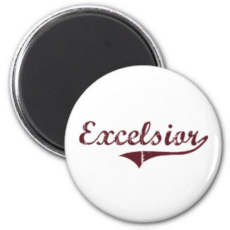 Excelsior Minnesota Classic Design 2 Inch Round Magnet