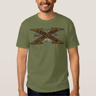 Excelsior Motorcycle Retro Logo T Shirt
