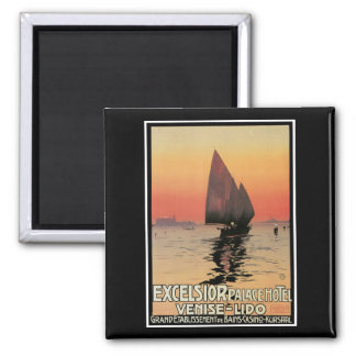 Excelsior/ Palace Hotel 2 Inch Square Magnet