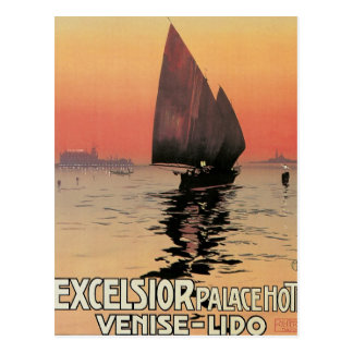 Excelsior Palace Hotel Venise  Lido Italy Postcard