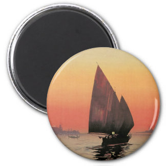 Excelsior Palace Hotel: Venise-Lido 2 Inch Round Magnet