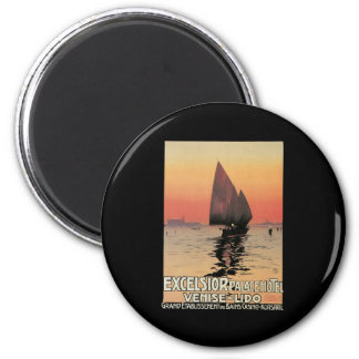Excelsior Palace Hotel Venise Lido 2 Inch Round Magnet