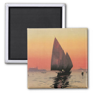 Excelsior Palace Hotel: Venise-Lido 2 Inch Square Magnet