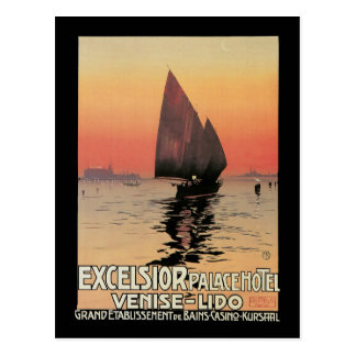 Excelsior Palace Hotel Venise Lido Postcard