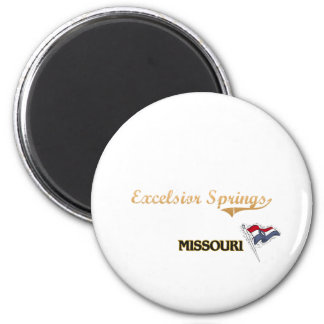 Excelsior Springs Missouri City Classic 2 Inch Round Magnet