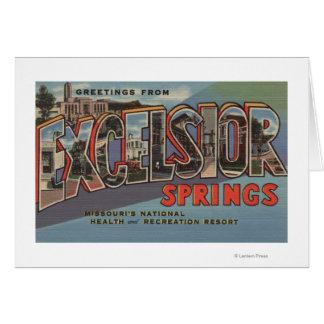 Excelsior Springs, Missouri - Large Letter Card