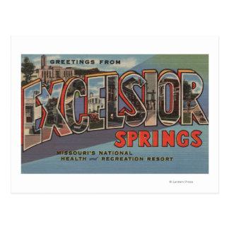 Excelsior Springs, Missouri - Large Letter Postcard