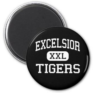 Excelsior - Tigers - High - Excelsior Springs 2 Inch Round Magnet
