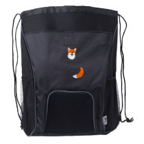 Except When You Can Be A Fox Funny Gift Drawstring Backpack