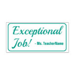 """[ Thumbnail: """"Exceptional Job!"""" Tutor Rubber Stamp ]"""