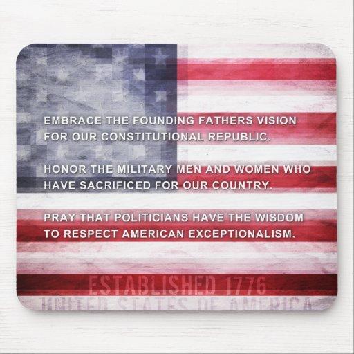 Exceptionalism americano tapete de raton