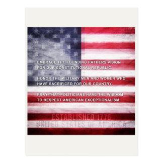 Exceptionalism americano tarjetas postales