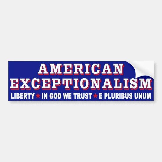 Exceptionalism Bumper Sticker