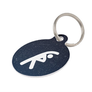 Excercising Symbol Pet Tag