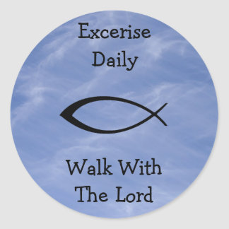 Excerise Daily Round Stickers