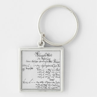 Excerpt from J.S. Bach's salary payment Keychain