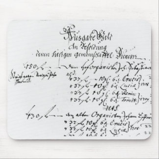Excerpt from J.S. Bach's salary payment Mouse Pad
