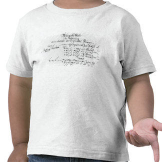 Excerpt from J.S. Bach's salary payment Tee Shirt