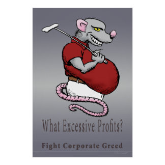 Excessive Profits Poster