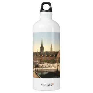 Exchange Hall, Copenhagen, Denmark Water Bottle