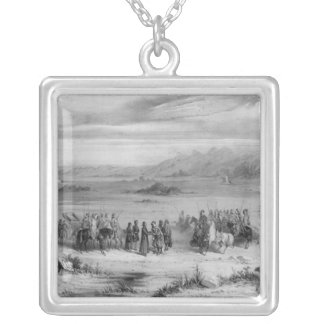 Exchange of prisoners by the Bishop of Algiers Silver Plated Necklace