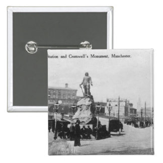 Exchange Station and Cromwell's Monument 2 Inch Square Button