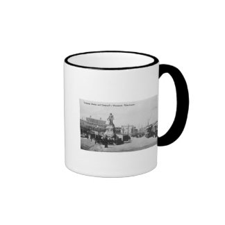 Exchange Station and Cromwell's Monument Ringer Coffee Mug