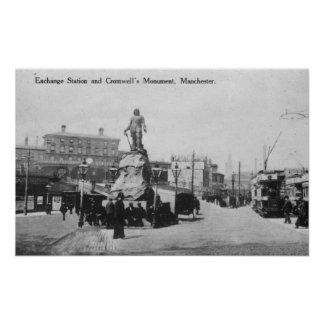 Exchange Station and Cromwell's Monument Posters