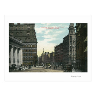 Exchange Street View of State Street Postcard