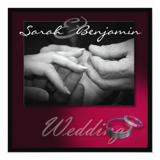 Exchanging Rings with Wedding Bands Card