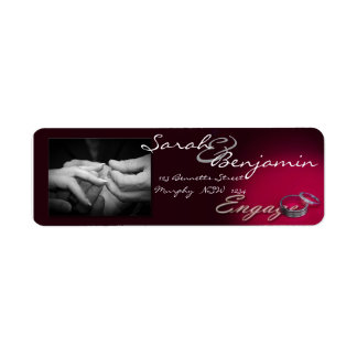 Exchanging Rings with Wedding Bands Custom Return Address Label