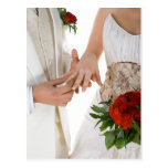 Exchanging Wedding Rings Postcard
