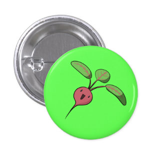 Excited Beet Pinback Button
