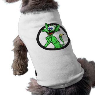 Excited Cartoon Cat Pet T Shirt