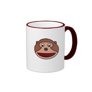 Excited Cartoon Monkey Ringer Mug