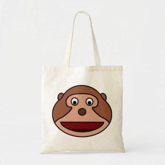 Excited Cartoon Monkey Tote Bag
