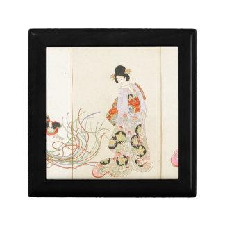 Excited dogs - Inu no kurui by Toyohara Chikanobu Keepsake Box