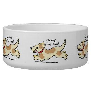 Excited for food pet dog illustration bowl