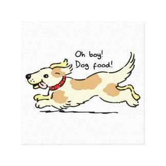 Excited for food pet dog illustration canvas print