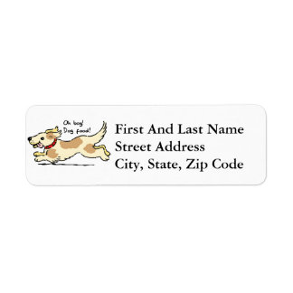 Excited for food pet dog illustration label