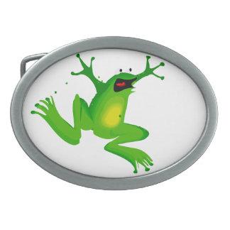Excited Frog Belt Buckle