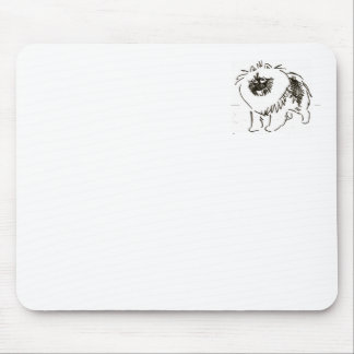 Excited keeshond mouse pad