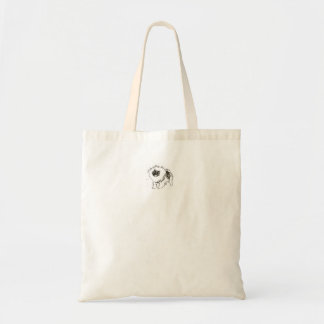 Excited keeshond tote bag