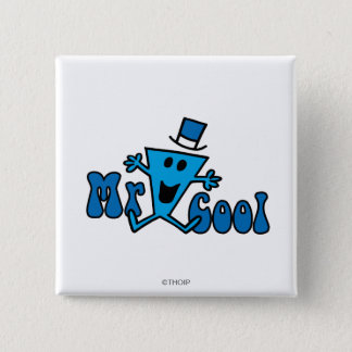 Excited Mr. Cool Jumping For Joy Pinback Button