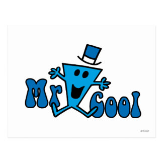 Excited Mr. Cool Jumping For Joy Postcard