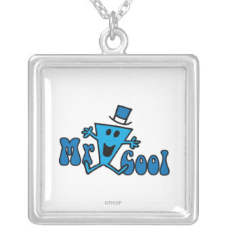 Excited Mr. Cool Jumping For Joy Silver Plated Necklace