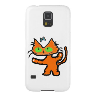 Excited Orange Cat And Butterfly Samsung Galaxy Nexus Covers