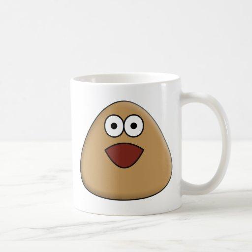 Excited Pou Coffee Mug