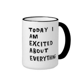 excited! ringer coffee mug