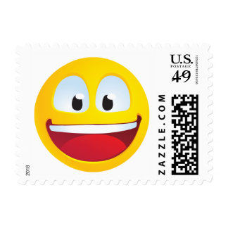 Excited Smile Postage Stamp